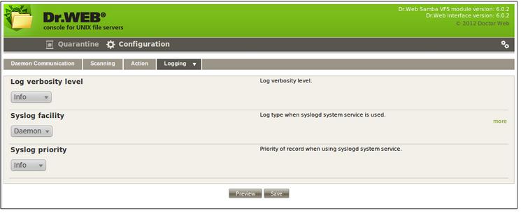 Dr Web® Anti-virus for UNIX File Servers